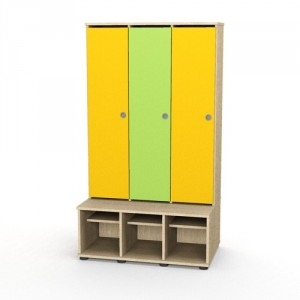 Bērnudārza garderobes skapītis (3-vietīgs)