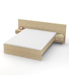 Divguļamā gulta ar atvilktņu skapīšiem
